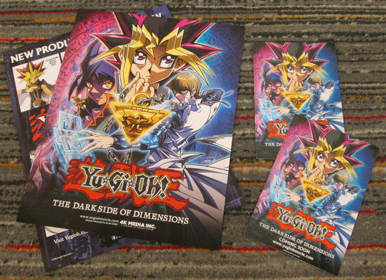Yu-Gi-Oh! The Dark Side of Dimensions mini posters and postcards from NYCC 2016