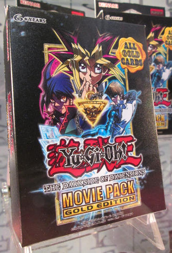 Yu-Gi-Oh! The Dark Side of Dimensions Movie Pack Gold Edition on display at NYCC 2016