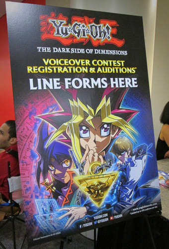 Yu-Gi-Oh! The Dark Side of Dimensions voice-over contest registration and audition sign