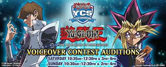 Yu-Gi-Oh! The Dark Side of Dimensions audition times at YCS Minneapolis