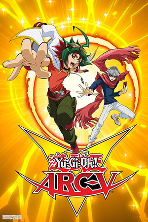 Yu-Gi-Oh! ARC-V promotional image with Yuya Sakaki and Declan Akaba