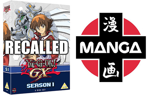Manga Entertainment UK's Yu-Gi-Oh! GX Season 1 DVD box set is being recalled