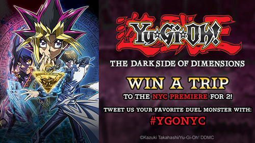 Crunchyroll's Yu-Gi-Oh! The Dark Side of Dimensions sweepstakes banner