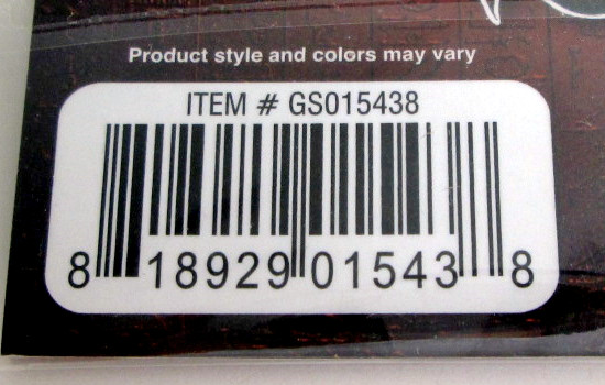 UPC barcode on the Grin Studios series 1 Yu-Gi-Oh! Collector Pins packaging