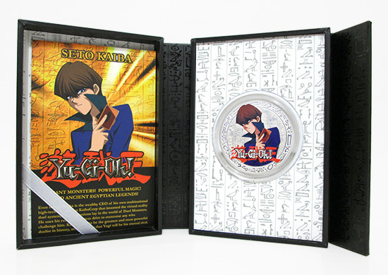 New Zealand Mint Yu-Gi-Oh! Seto Kaiba coin display case