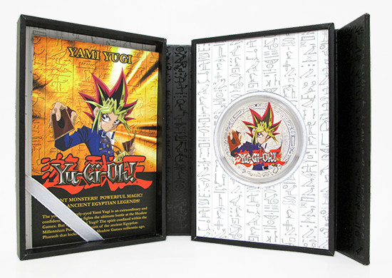 New Zealand Mint Yu-Gi-Oh! Yami Yugi coin display case
