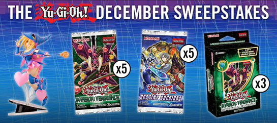 Yu-Gi-Oh! December 2016 Sweepstakes banner from YUGIOH.com