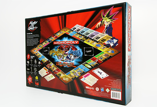 Back of the Monopoly Yu-Gi-Oh! Edition game box by USAopoly