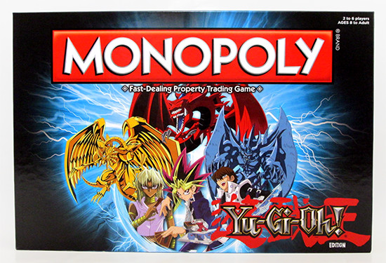 Front of the Monopoly Yu-Gi-Oh! Edition game box by USAopoly