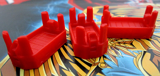 USAopoly Yu-Gi-Oh! Monopoly Duel Arena pieces viewed from different angles