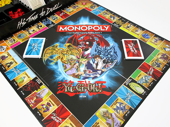 USAopoly Yu-Gi-Oh! Monopoly game board