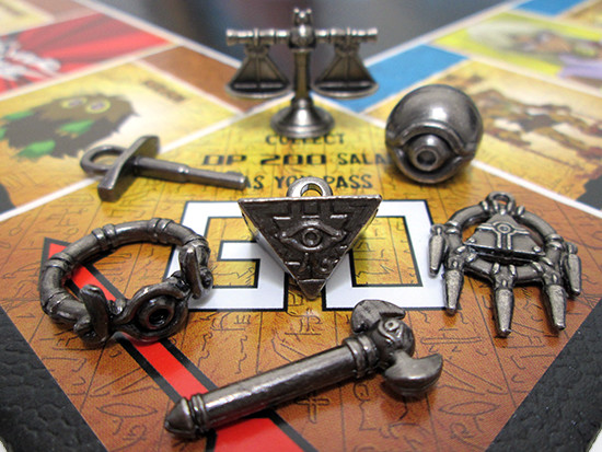 USAopoly Yu-Gi-Oh! Monopoly Millennium Item tokens on the GO space