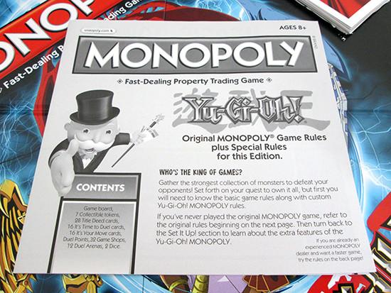 USAopoly Yu-Gi-Oh! Monopoly rule book