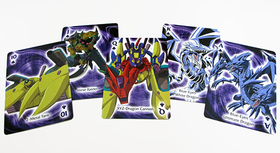 The clubs suit in Aquarius' Yu-Gi-Oh! playing cards are made up of Kaiba's monsters