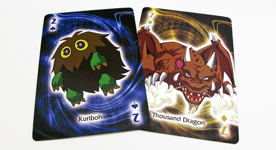 A Kuriboh and Thousand Dragon Yu-Gi-Oh! playing card