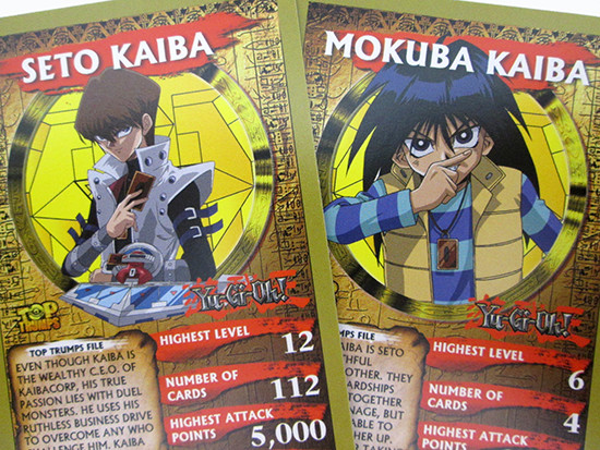 Yu-Gi-Oh! Top Trumps Seto and Mokuba Kaiba cards