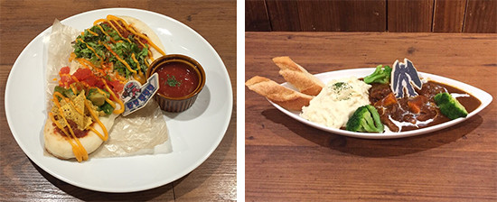 Food items from the second Yu-Gi-Oh! Tower Records Cafe menu