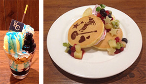 Sweets from the first Yu-Gi-Oh! Tower Records Cafe menu
