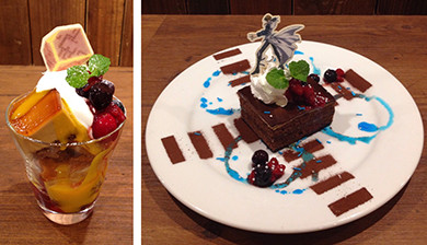Sweets from the second Yu-Gi-Oh! Tower Records Cafe menu