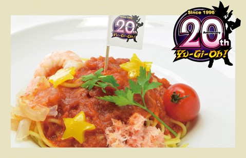 Yu-Gi-Oh! 20th Special Pasta at the Yu-Gi-Oh! Animate Cafe