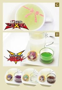 Kotori Mizuki and Yuzu's teas at the Yu-Gi-Oh! Animate Cafe