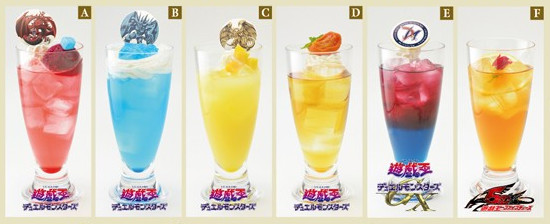 Mixed drinks and teas at the Yu-Gi-Oh! Animate Cafe