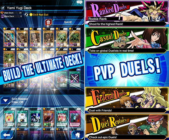 Yu-Gi-Oh! Duel Links deck and PVP duel promo image