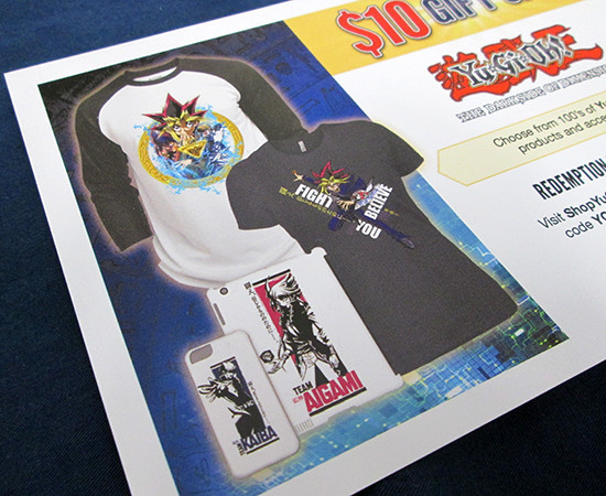 ShopYuGiOh.com flyer from the U.S. premiere of Yu-Gi-Oh! The Dark Side of Dimensions