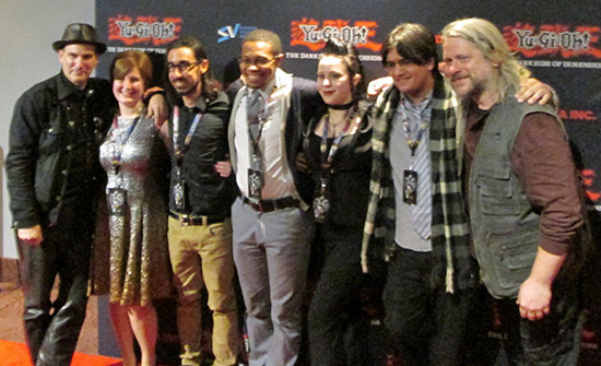 Voice actors and guests at the Yu-Gi-Oh! The Dark Side of Dimensions U.S. premiere after-party