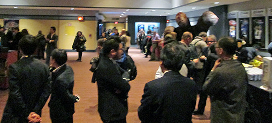 Another shot of the hallway at the Yu-Gi-Oh! The Dark Side of Dimensions U.S. premiere screening