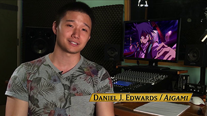 Daniel J. Edwards in a behind-the-scenes look at Yu-Gi-Oh! The Dark Side of Dimensions