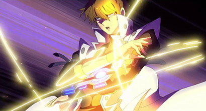 Seto Kaiba putting on his duel disk in the third Yu-Gi-Oh! The Dark Side of Dimensions English trailer