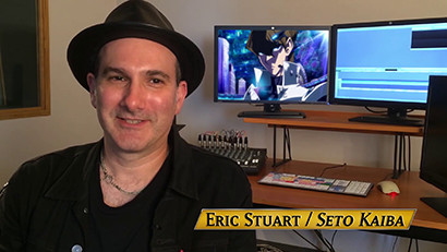 Eric Stuart in a behind-the-scenes look at Yu-Gi-Oh! The Dark Side of Dimensions