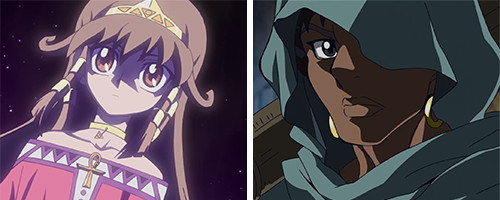 Headshots of Sera and Mani in Yu-Gi-Oh! The Dark Side of Dimensions
