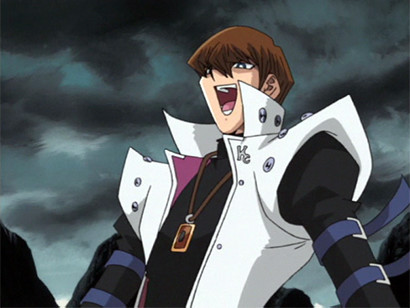 Seto Kaiba laughing at Noah's backstory in episode 114