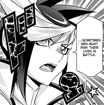 Sometimes, men must risk their lives in battle, says Yugo in Yu-Gi-Oh! ARC-V manga chapter 20