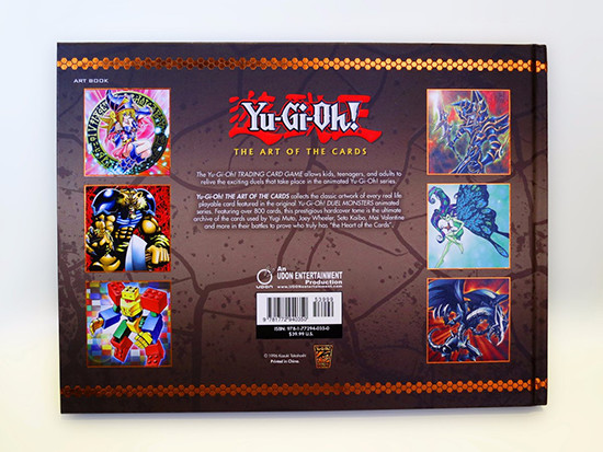 Back cover of Yu-Gi-Oh! The Art of the Cards from UDON Entertainment