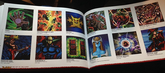 Example pages featuring various card artwork in Yu-Gi-Oh! The Art of the Cards