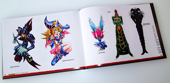 Dark Magician, Dark Magician Girl, Harpie Lady, Jinzo, and Magician of Black Chaos in the key art bonus gallery in Yu-Gi-Oh! The Art of the Cards