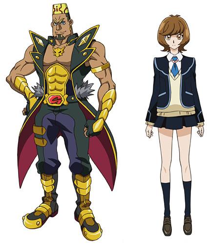 Yu-Gi-Oh! VRAINS characters Go Onizuka and Aoi Zaizen