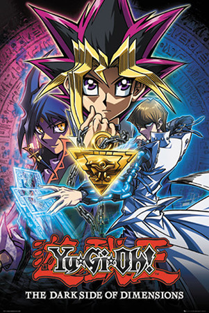 Yu-Gi-Oh! The Dark Side of Dimensions maxi poster with Yugi, Kaiba, and Aigami by GB eye