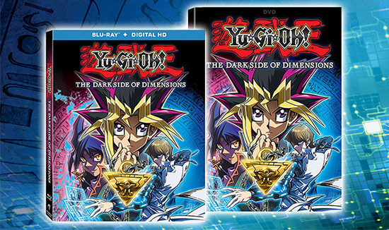 Yu-Gi-Oh! The Dark Side of Dimensions Blu-ray and DVD cover mock-ups from Anchor Bay Entertainment