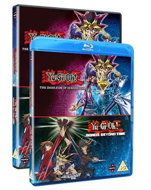 Yu-Gi-Oh! Movie Pack Blu-ray and DVD cover mock-ups from Manga UK