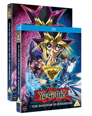 Yu-Gi-Oh! The Dark Side of Dimensions Blu-ray and DVD cover mock-ups from Manga UK