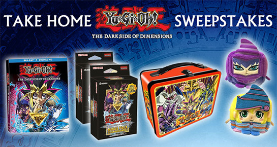 Take Home Yu-Gi-Oh! The Dark Side of Dimensions Sweepstakes banner from YUGIOH.com