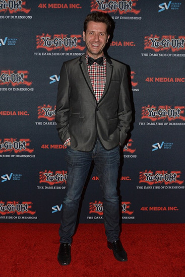 Darren Dunstan at the Yu-Gi-Oh! The Dark Side of Dimensions U.S. premiere on January 24, 2017