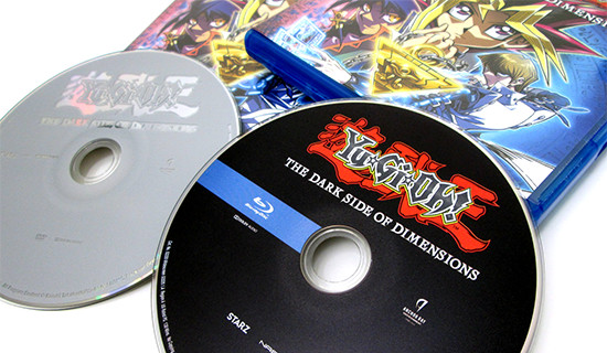 Photo of Anchor Bay Entertainment's Yu-Gi-Oh! The Dark Side of Dimensions DVD and Blu-ray discs