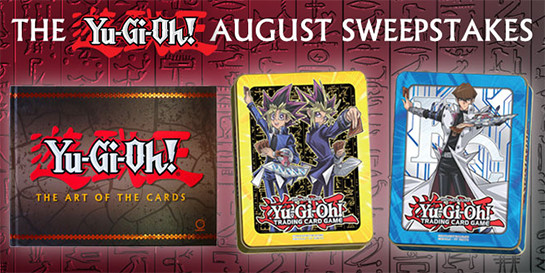 Yu-Gi-Oh! August 2017 Sweepstakes banner from YUGIOH.com