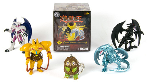 Yu-Gi-Oh! monster figure hangers and box from Grin Studios