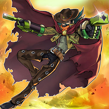Gagaga Cowboy card artwork from YUGIOH.com